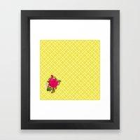Floral Geometric Framed Art Print