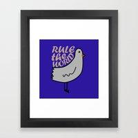 Rule The World Framed Art Print