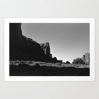 Hidden Skull in Monument Valley Art Print