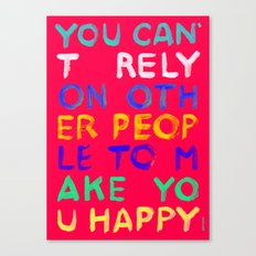 RELY / ABSOLUTELY HAPPY VERSION Canvas Print