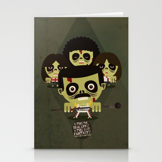 queen zombies Stationery Card