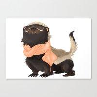 Honey Badger Don't Care Canvas Print