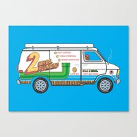 2 Bros. Plumbing Van Canvas Print