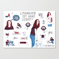 Lithography Is Easy *sai… Canvas Print