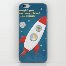 Ticket To The Moon iPhone & iPod Skin