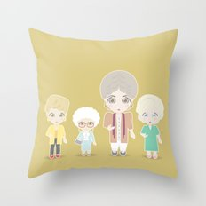 Girls In Their Golden Ye… Throw Pillow