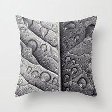 Silver Leaf Throw Pillow