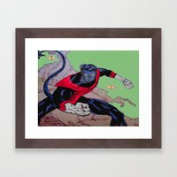 The Amazing Nightcrawler Framed Art Print