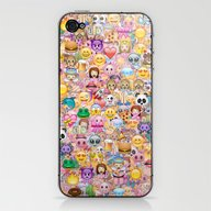 iPhone & iPod Skin featuring Emoji / Emoticons by Marta Olga Klara