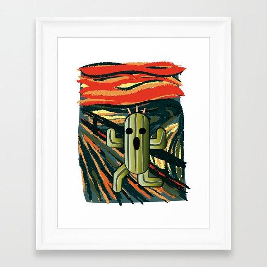 Cactilion Framed Art Print