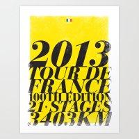 2013 Tour de France: Maillot Jaune Art Print