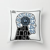 Push The Button Throw Pillow