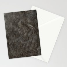 Black And White Brushstrokes Abstract Pattern Modern Stationery Cards
