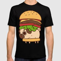 Puglie Burger Mens Fitted Tee SMALL Black