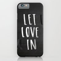 iPhone & iPod Case featuring Let Love In Chalkboard by Jen Posford