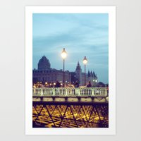 Paris At Night: Pont Neu… Art Print
