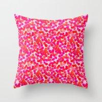 Pink Spots Throw Pillow