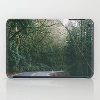 drive through the woods iPad Case