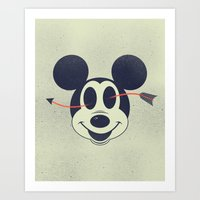 Mouse and Arrow Art Print