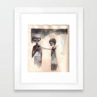 attachment Framed Art Print
