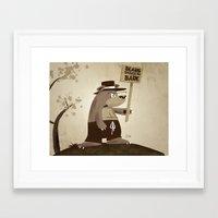 Bears Want To Be Bare Framed Art Print