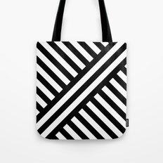 B/W two way diagonal stripes Tote Bag
