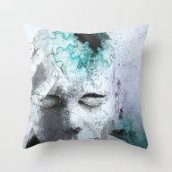 Throw Pillow featuring Puzzled by Fresh Doodle - JP Va…