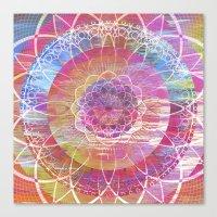 Glitch Mandala Canvas Print
