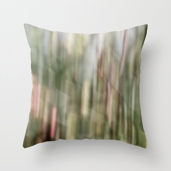 autumn blur Throw Pillow