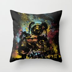 giant panda bot attack Throw Pillow