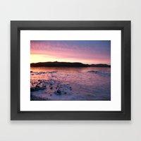 Frozen Sunset 3 - Pink Lemonade Framed Art Print