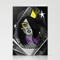 Diamond girl Stationery Cards