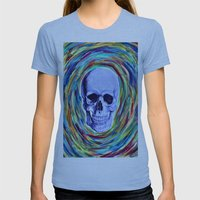 A Skull's Vortex Womens Fitted Tee Athletic Blue SMALL
