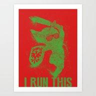 Art Print featuring Link Boss by Head Glitch