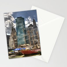 NYC Harbor, south seaport Stationery Cards