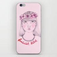 Floral Feminist Bitch iPhone & iPod Skin