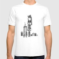 DRINK ME Mens Fitted Tee White SMALL