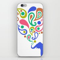 Multi-Colored Paisley El… iPhone & iPod Skin