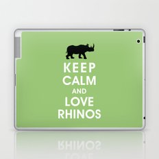 Keep Calm and Love Rhinos Laptop & iPad Skin