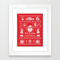 Merry Scroogedmas Framed Art Print