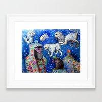 Celestial Animals Framed Art Print