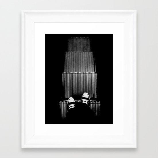 Up The Down Escalator Framed Art Print