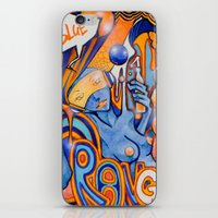 Blue-Orange iPhone & iPod Skin