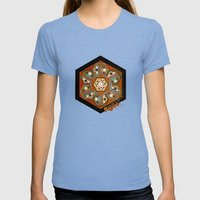 The Three Ages II Womens Fitted Tee Tri-Blue SMALL
