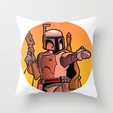 Boba Fire Throw Pillow