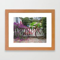 Red Bicycle Framed Art Print