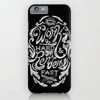 Work Hard & Render Fast Floral iPhone 6 Slim Case
