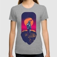 Awakening in a Strange Land Womens Fitted Tee Tri-Grey SMALL