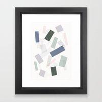 Wood Henge Pattern Framed Art Print