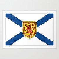 The Flag Of Nova Scotia  Art Print